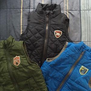 Toddler boys puffer vests bundle